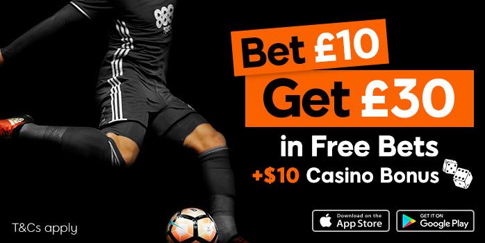 Online Sports Betting & Odds | Bet £10 Get £30 | 888 Sport