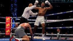 Anthony Joshua at Wembley Stadium