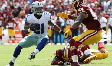 Dallas Cowboys running back Ezekiel Elliott vs Washington Redskins