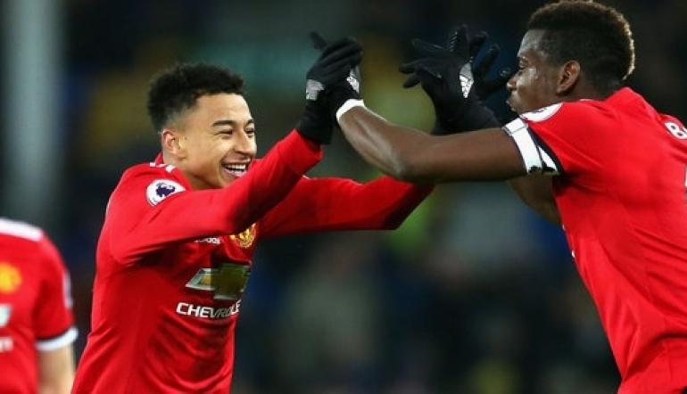 Manchester United stars Jessie Lingard and Paul Pogba