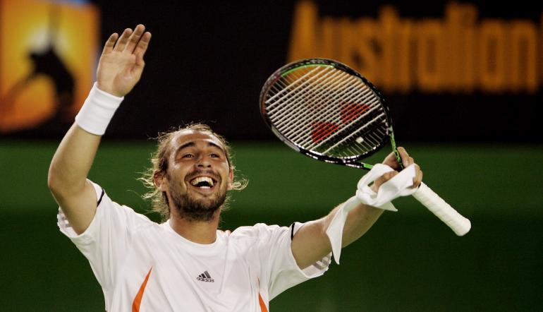 Baghdatis claimed one of the biggest shocks in Australian Open history