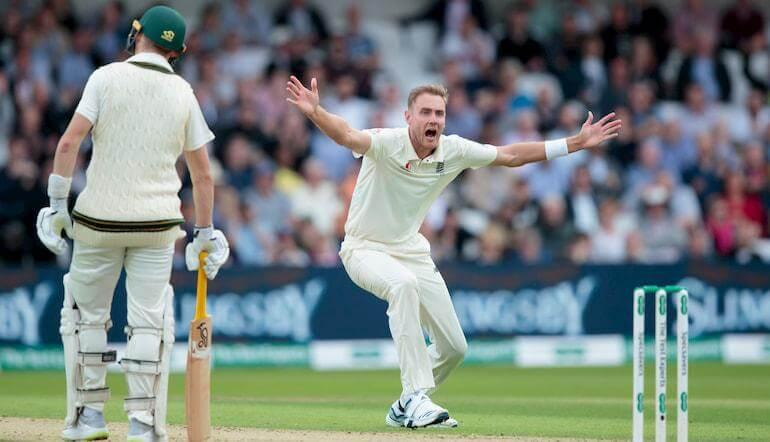 England Cricket Stuart Broad - Cricket Betting